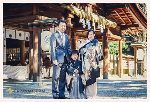 大縣神社でお宮参りと七五三を同時に 愛知県犬山市