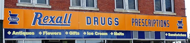 IA, Afton-U.S. 169 Rexall Drug Store Sign