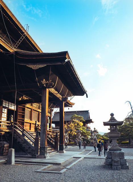 Zenkoji Temple Sunset, Nagano