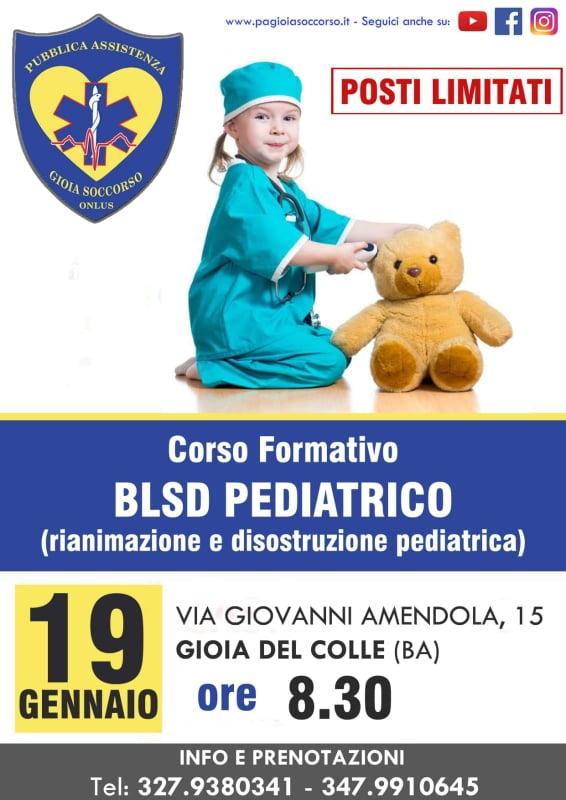 Corso formativo BLSD Pediatrico