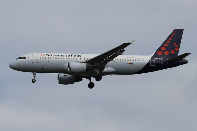 Brussels Airlines OO-SNK LHR 07/08/19