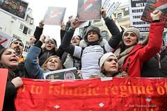 No war on Iran demo Amsterdam