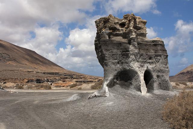 Afgravingen van picón - Lanzarote