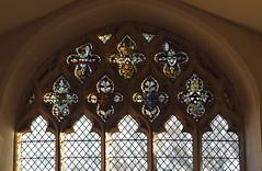 heraldic shields and 14th Century glass