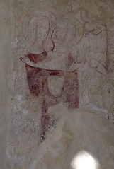 wall painting: Blessed Virgin and St Elizabeth at the Visitation (13th Century)