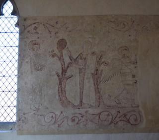 wall paintings: Annunciation and a censing angel (13th Century)