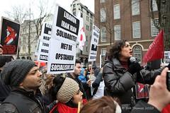 Sadet Karabulut - No war on Iran demo Amsterdam