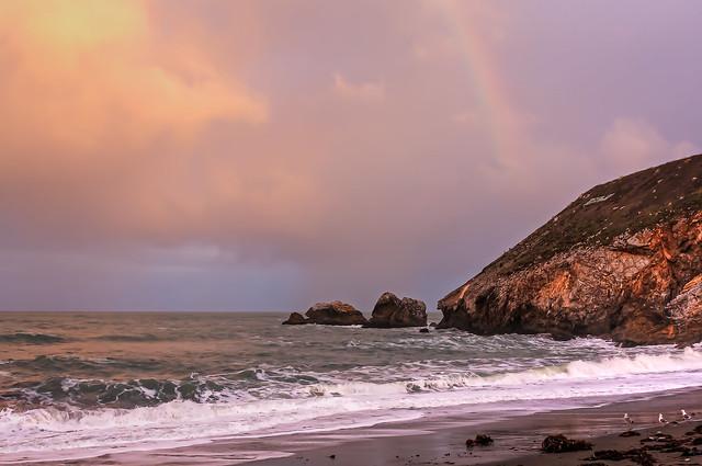 Rainbow over Rockaway Beach