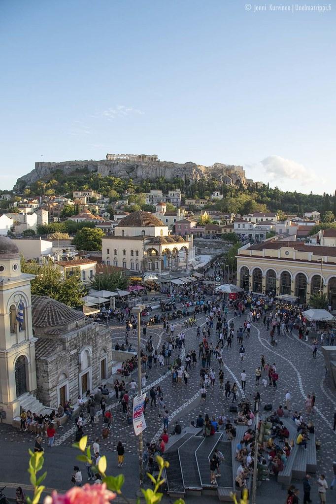 Maisema MS Roof Gardenista Ateenassa