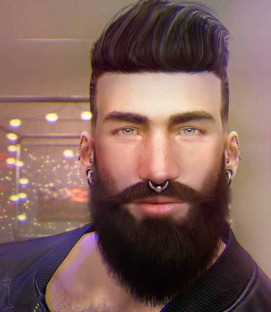 ▀ ▄▀ ▄ ║ Garrett has a fake beard.
