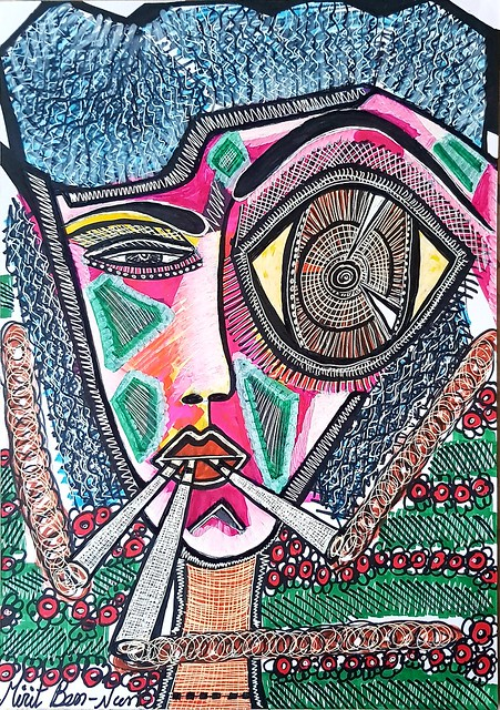Israeli artist modern artwork from Israel Mirit Ben-Nun