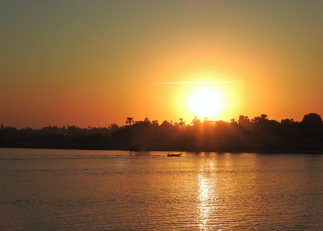 Sunset Over West Bank at Kom Ombo