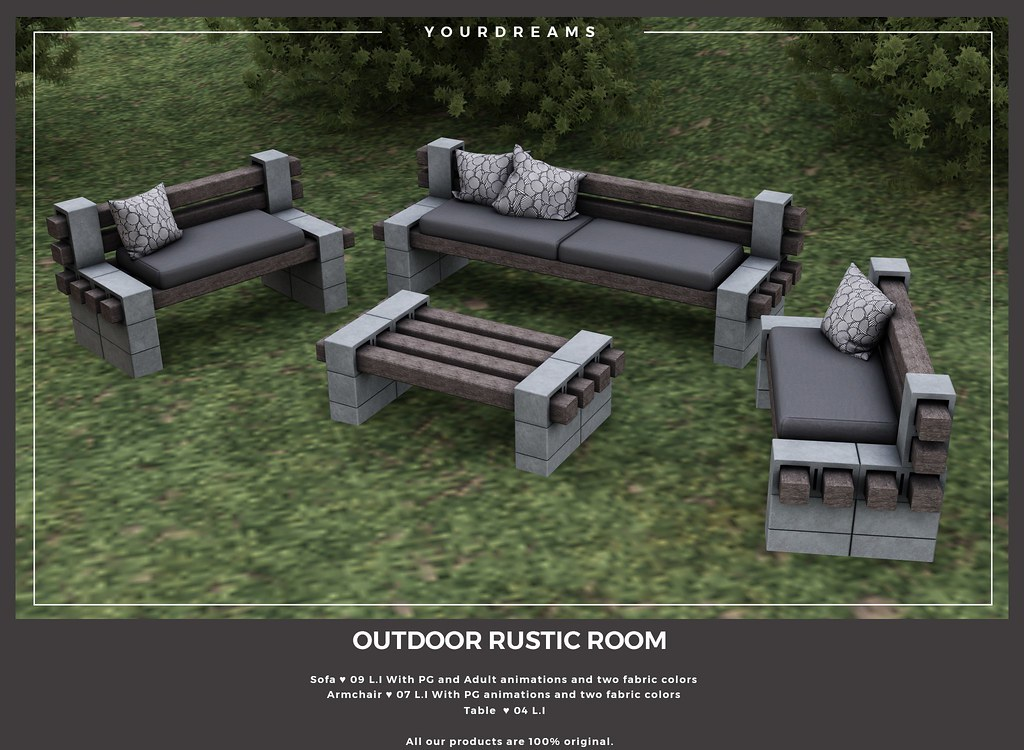 {YD} Outdoor Rustic Room