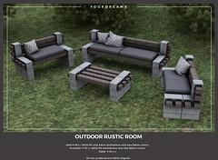 {YD} Outdoor Rustic Room