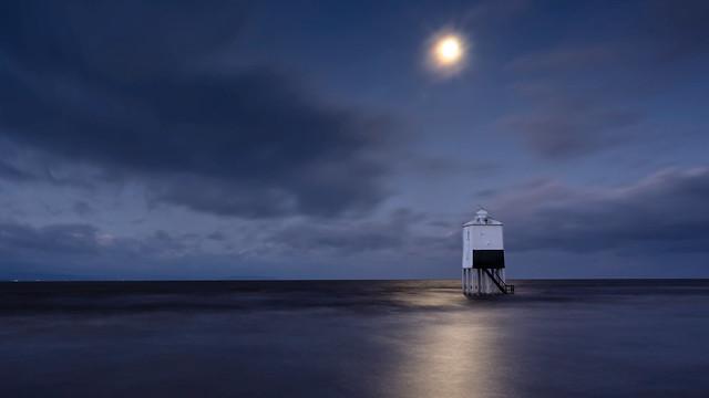 Burnham lowlight house under moon light