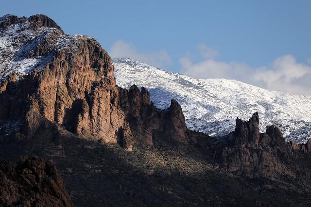 Arizona's Superstition Mountains:  Surprising Snow