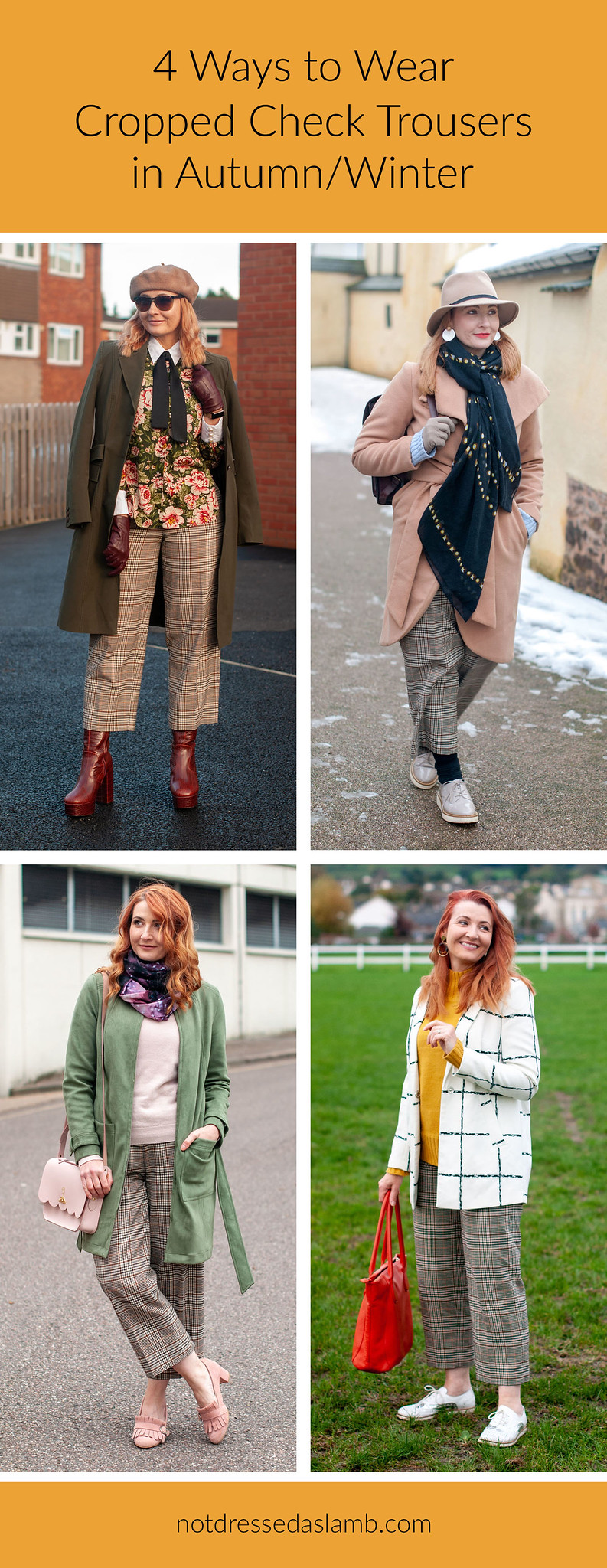 4 Ways to Wear Cropped Check Trousers | Not Dressed As Lamb, Fashion and Style for Over 40 Women