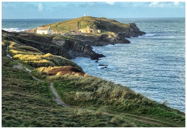 Newquay headland .