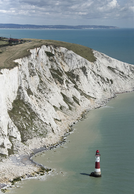 Beachy Head Lighthouse aerial view