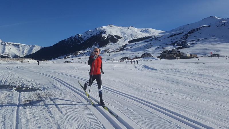 Iñaki haciendo esquí de fondo en Beret