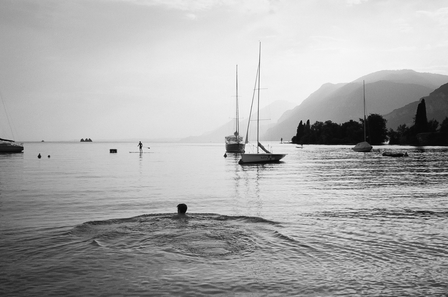 Lake Garda Black and White photo