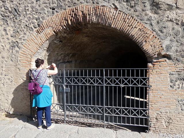 Italy 2019, Pompeii Pompei, Amphitheatre of Pompeii shooting