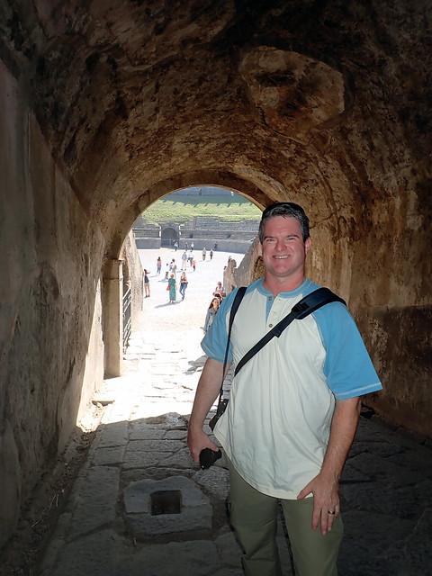 Italy 2019, Pompeii Pompei, Amphitheatre of Pompeii entering through the tunnels