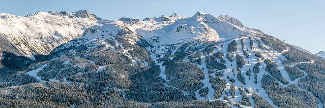 Sunny winter's View of Blackcomb Mountain