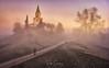 Running between mists