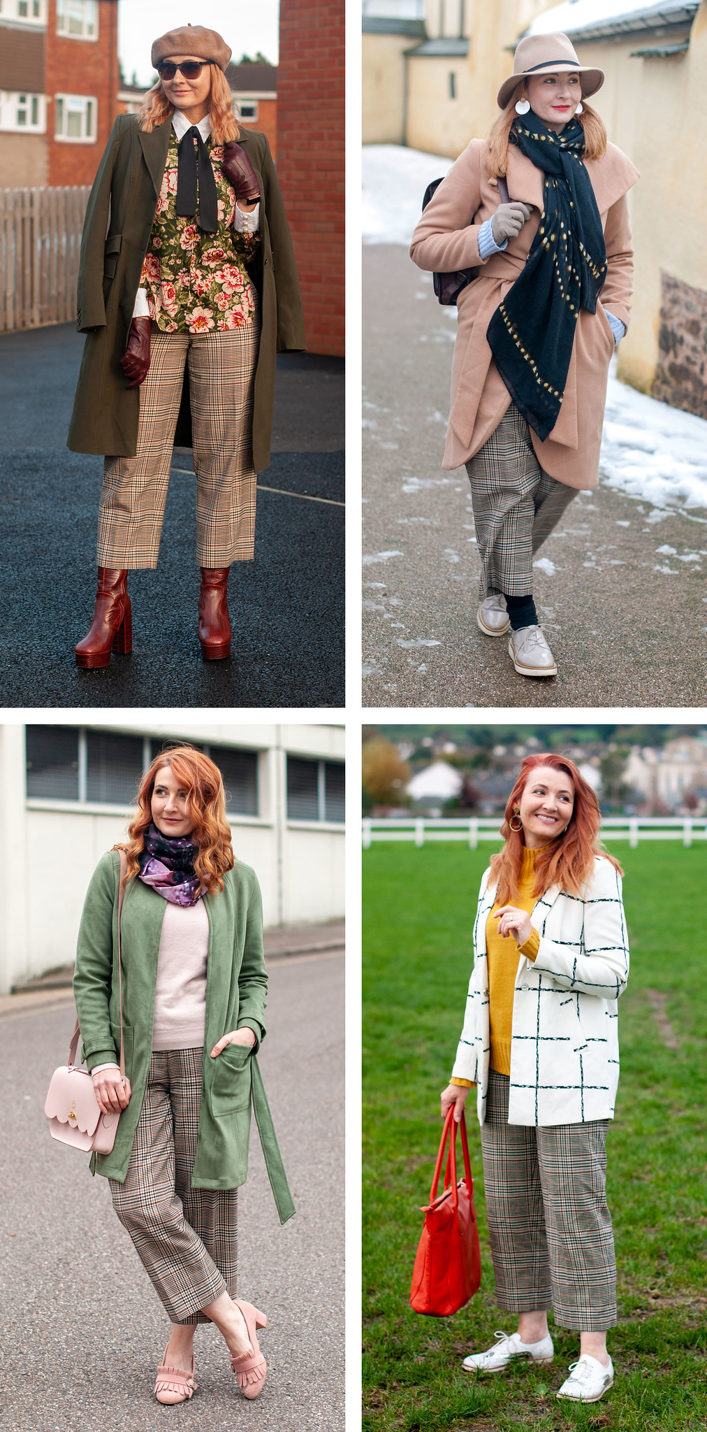 4 Ways to Wear Cropped Check Trousers   Not Dressed As Lamb, Fashion and Style for Over 40 Women