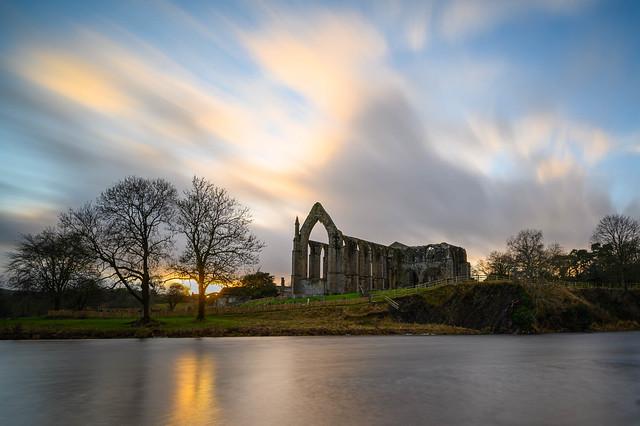 Sundown at Bolton Abbey