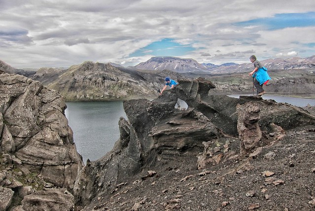 Iceland ~ Landmannalaugar Route ~  Ultramarathon -  Climbing the Lava  ~ Hiking from Camp