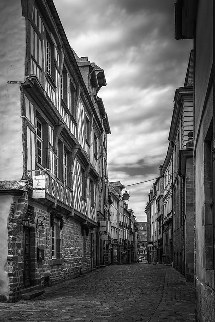 Back Street, Dinan, Brittany 7268_