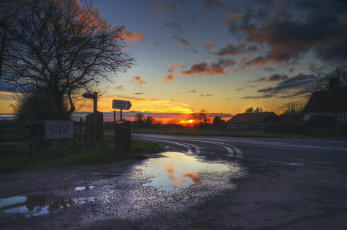 sunset water reflection winter weather season crookedmile essex