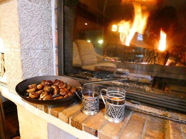 marrons et vin chaud
