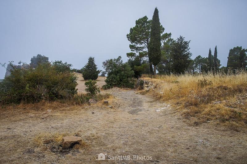 Saliendo de la Mussara por el Camí de la Font