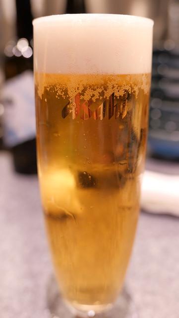 アサヒプレミアム熟撰生ビール 八重洲てん串山本家 09