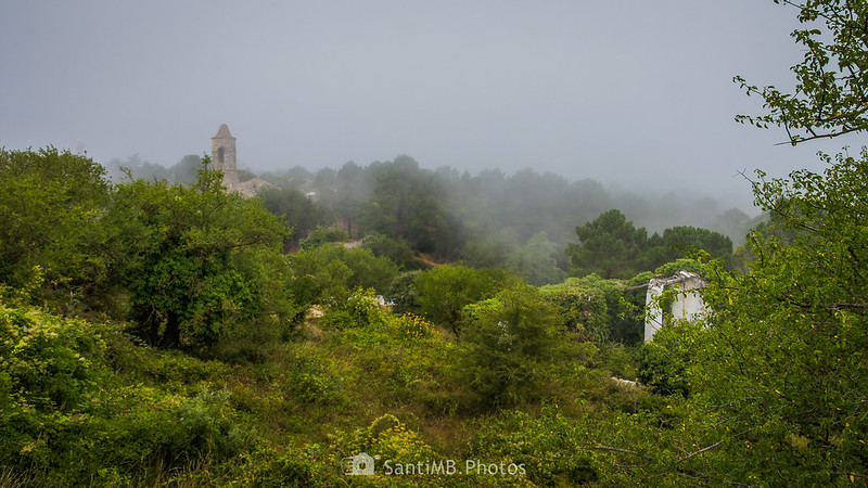 Niebla cubriendo la Mussara