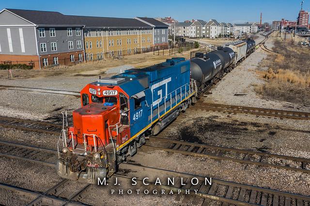 GTW 4917 | EMD GP38-2 | CN Memphis Subdivision