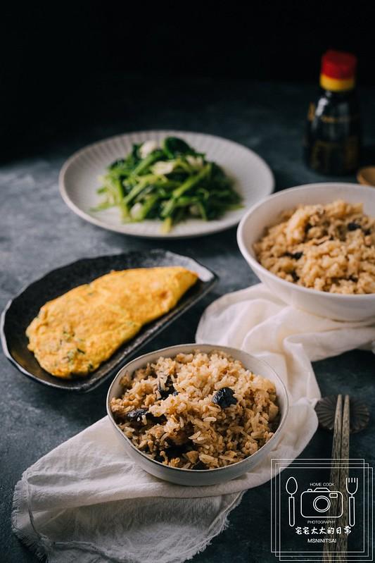 宅宅太太的日常,麻油香菇飯 @陳小可的吃喝玩樂