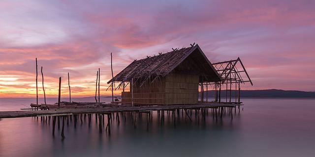 Lovely sunset @ Kri island, Raja Ampat,Indonesia.