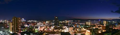 shimane matsue lakeshinji shinjilake lake sanin japan d750 24120mm panorama night nightview winter 2020