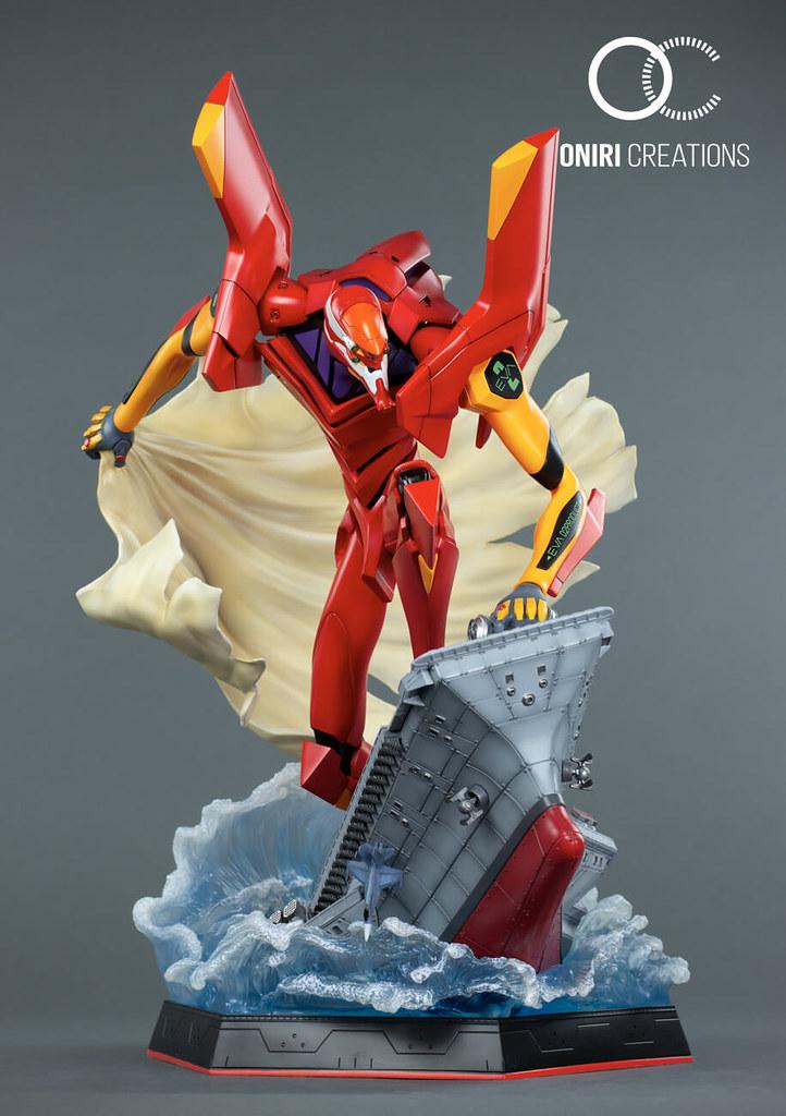 氣勢磅礡的水上作戰!Oniri Creations《新世紀福音戰士》「貳號機:初登場」立體模型(EVA-02 : FIRST APPEARANCE DIORAMA)