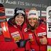 Dvojnásobná švýcarská radost: Z výhry ve sjezdu se radovala Corinne Suter, třetí skončila Michelle Gisin. , foto: Swiss Alpine Ski Team