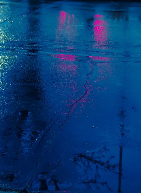 Wet Evening Street