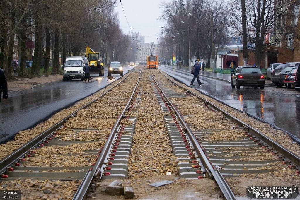 ремонт рельсов по Трамвайному проезду