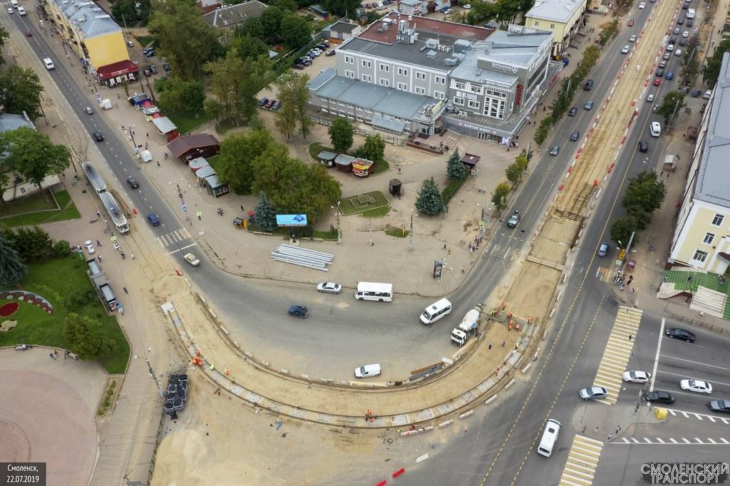 ремонт рельсов на пр. Гагарина