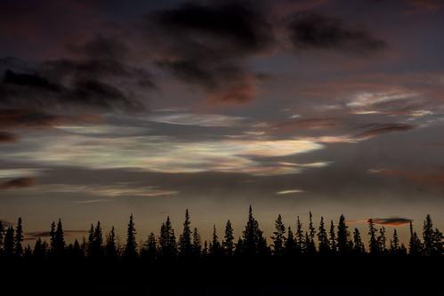 Mother of Pearl clouds Jukkasjärvi Sweden