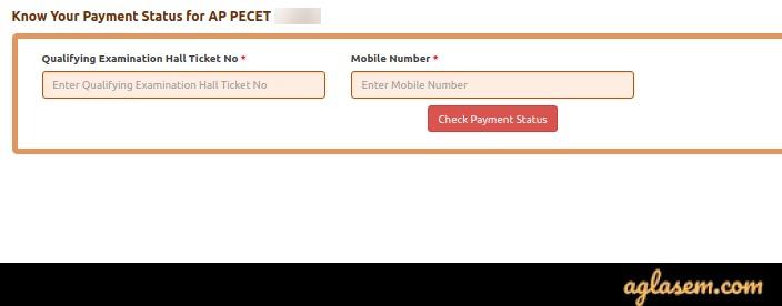 AP PECET 2020 Payment status