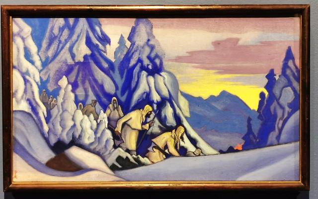 Nicolái Roerich en busca de Shambhala Partisanos 1943 Museo Ruso de Málaga